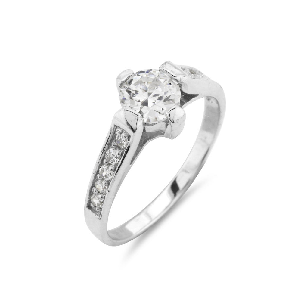 1 Carat Prong Set Engagement Ring - www.sparklingjewellery.com