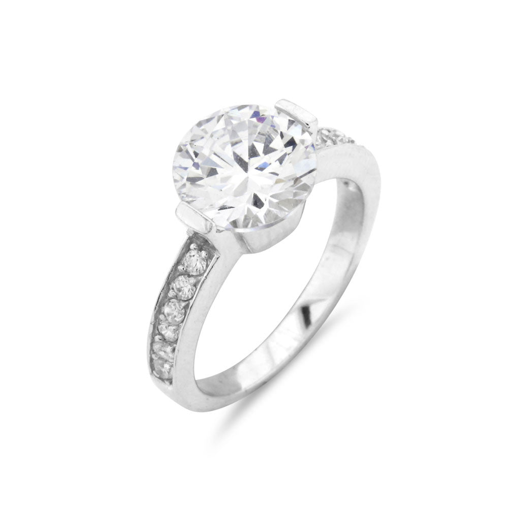 Round Cut Solitaire Ring - www.sparklingjewellery.com