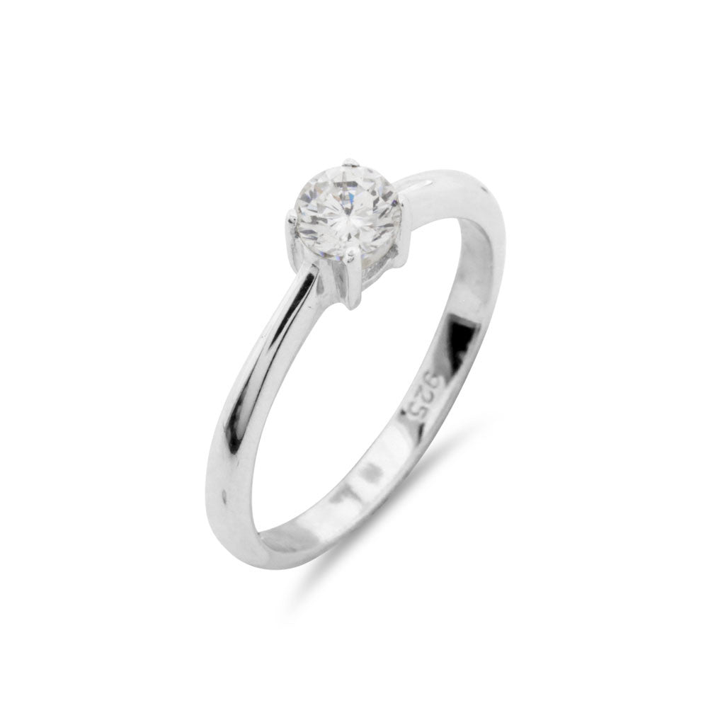 Classic Solitaire Ring - www.sparklingjewellery.com