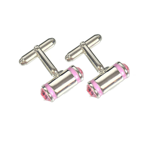 Fred Bennet Pink Crystal Silver Cufflinks