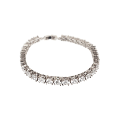 Heavy Weight Tennis Bracelet Rose Gold or Platinum