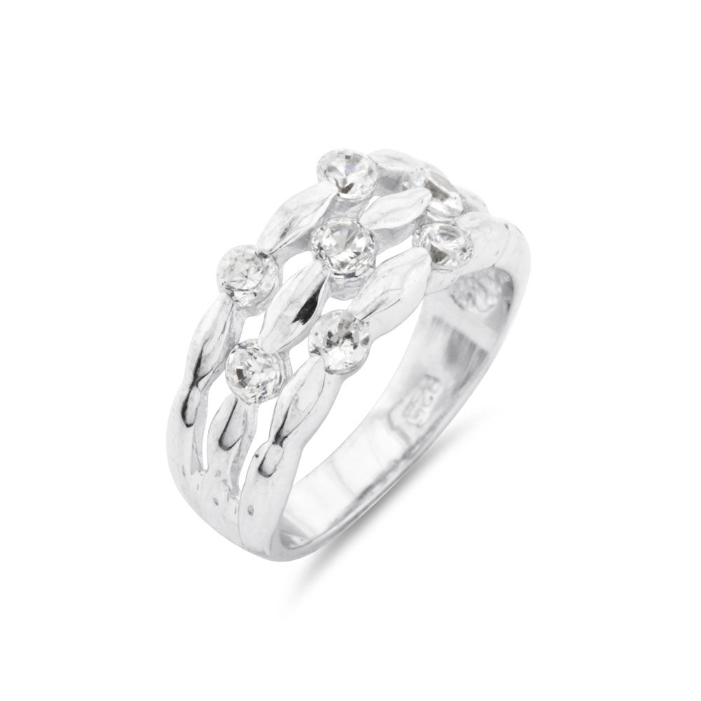 Silver Dress Ring - www.sparklingjewellery.com