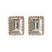 Rose Gold Emerald Cut Earrings - www.sparklingjewellery.com