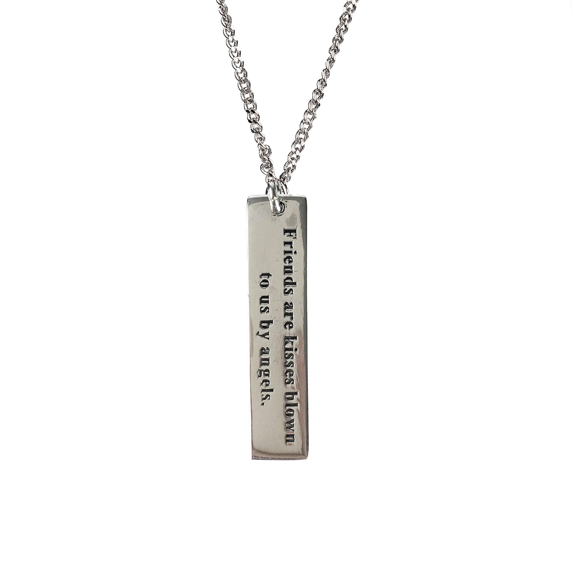 necklace infinity bar name pendant custom jungle engraved products