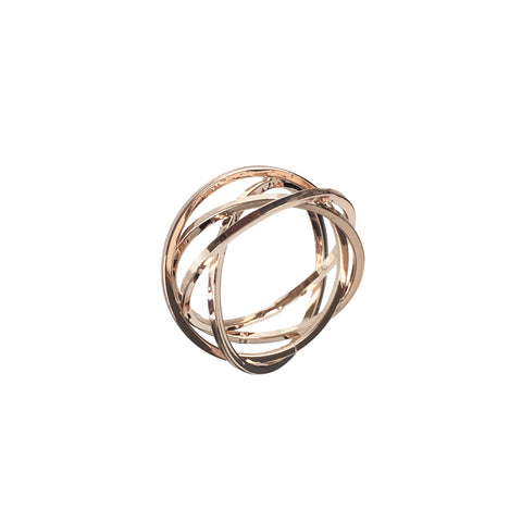 Crossover Wire Ring - www.sparklingjewellery.com