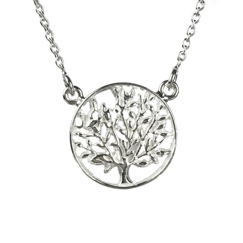 Tree of Life Delicate Sterling Silver Necklace - www.sparklingjewellery.com