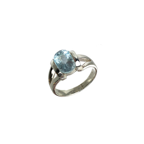 Cushion Cut Topaz Ring