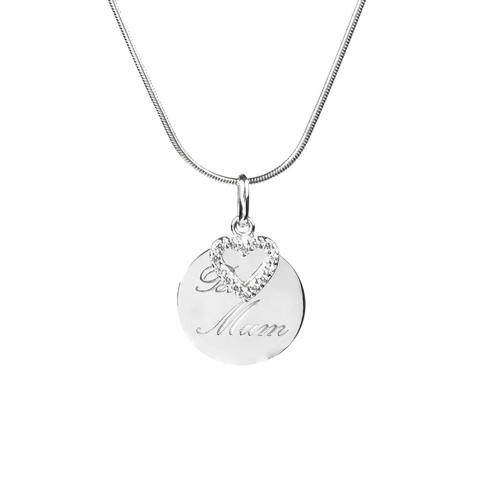 Best Mum Sterling Silver Pendant Necklace