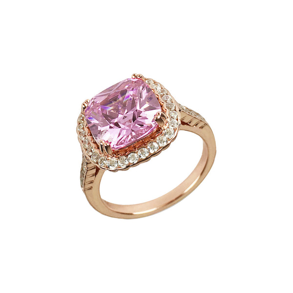 Halo Ring Rose Gold - www.sparklingjewellery.com