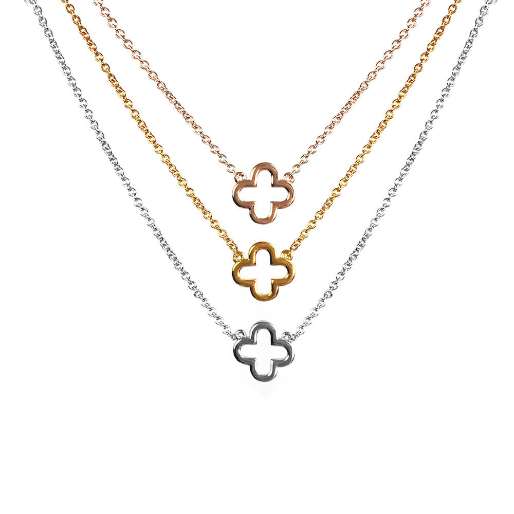 Lucky Clover Layer Necklace