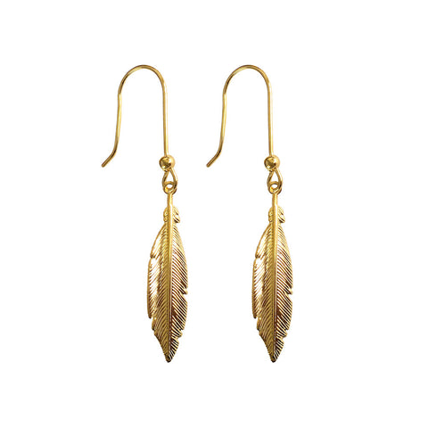 Hoxton Feather Earrings - www.sparklingjewellery.com