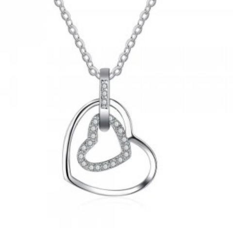 Silver Heart Necklace - Limited Edition - www.sparklingjewellery.com