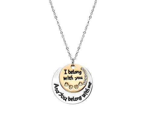 I belong to you Friendship Necklace - www.sparklingjewellery.com