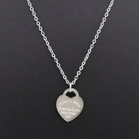 Return to Forever Love New York Heart Necklace - www.sparklingjewellery.com