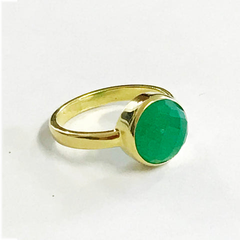 Green Gold Vermeil Bezel Ring