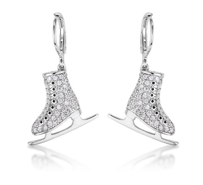 Ice Skate Earrings - www.sparklingjewellery.com