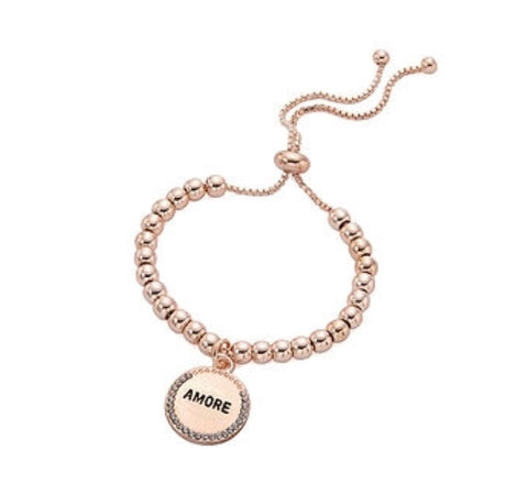 Amore Rose Gold or Silver Friendship Bracelet