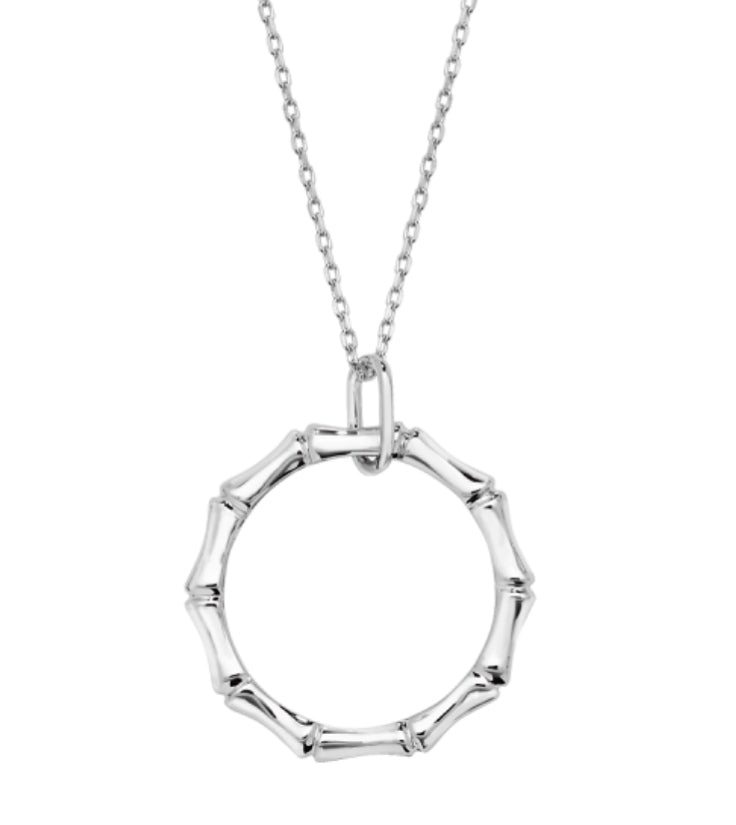 Sterling Silver Bamboo Necklace Limited Edition - www.sparklingjewellery.com