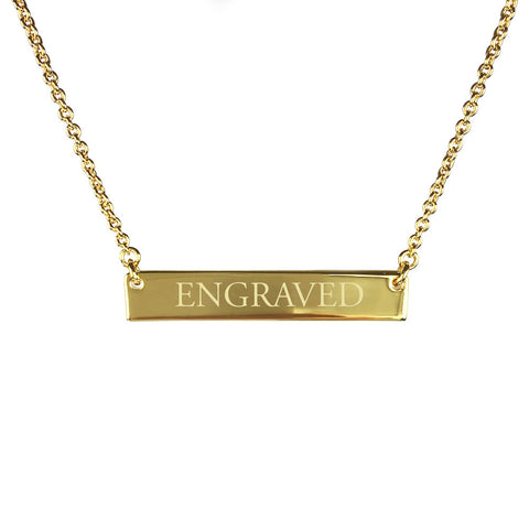 Bar Necklace with Engraving - www.sparklingjewellery.com