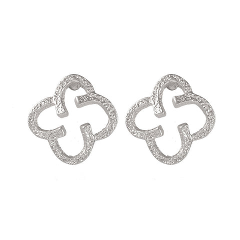 Celtic Clover Earrings - www.sparklingjewellery.com