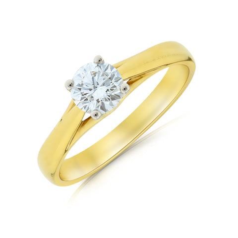 Ena Harkness Half Carat Diamond Engagement Ring - www.sparklingjewellery.com
