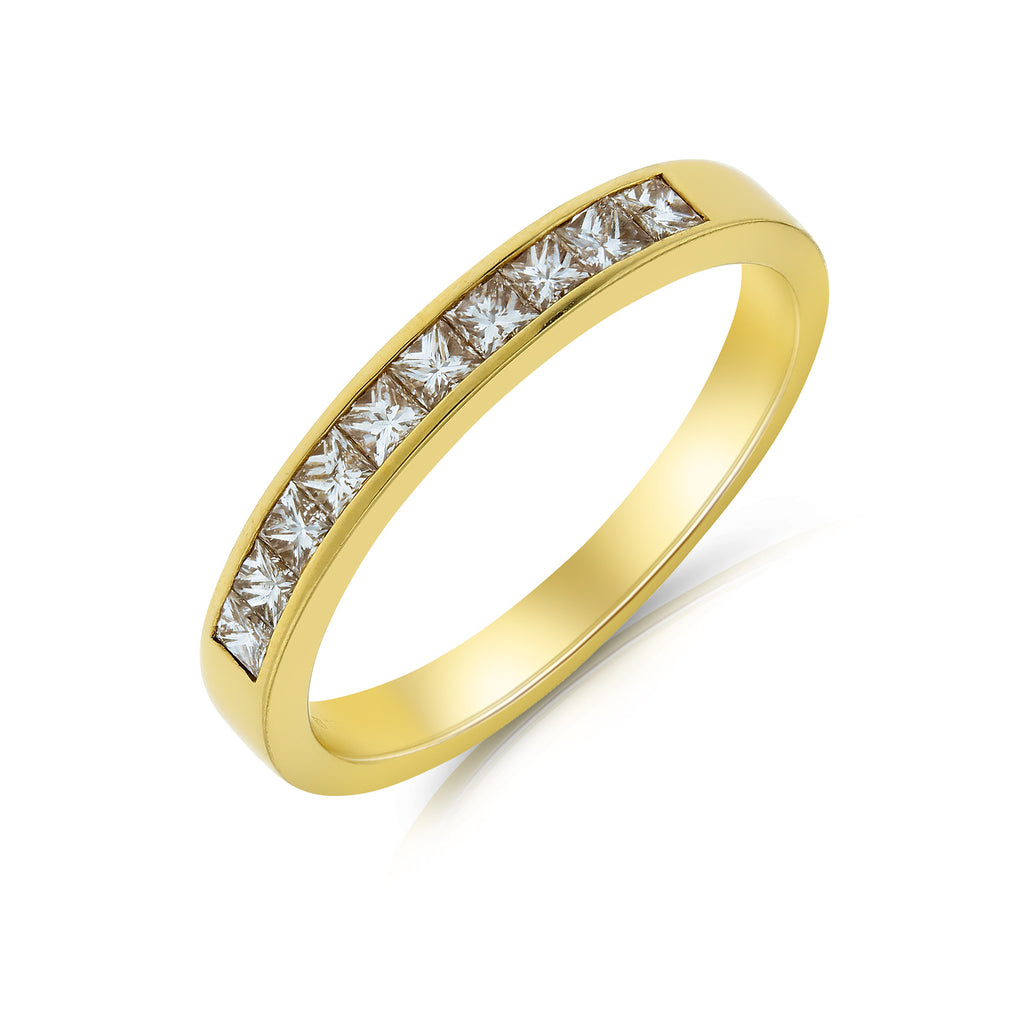 Gold Diamond Eternity Ring - www.sparklingjewellery.com