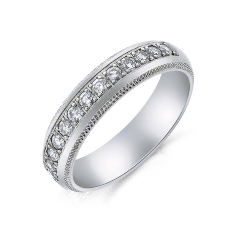 Channel Set Diamond Eternity Ring - www.sparklingjewellery.com