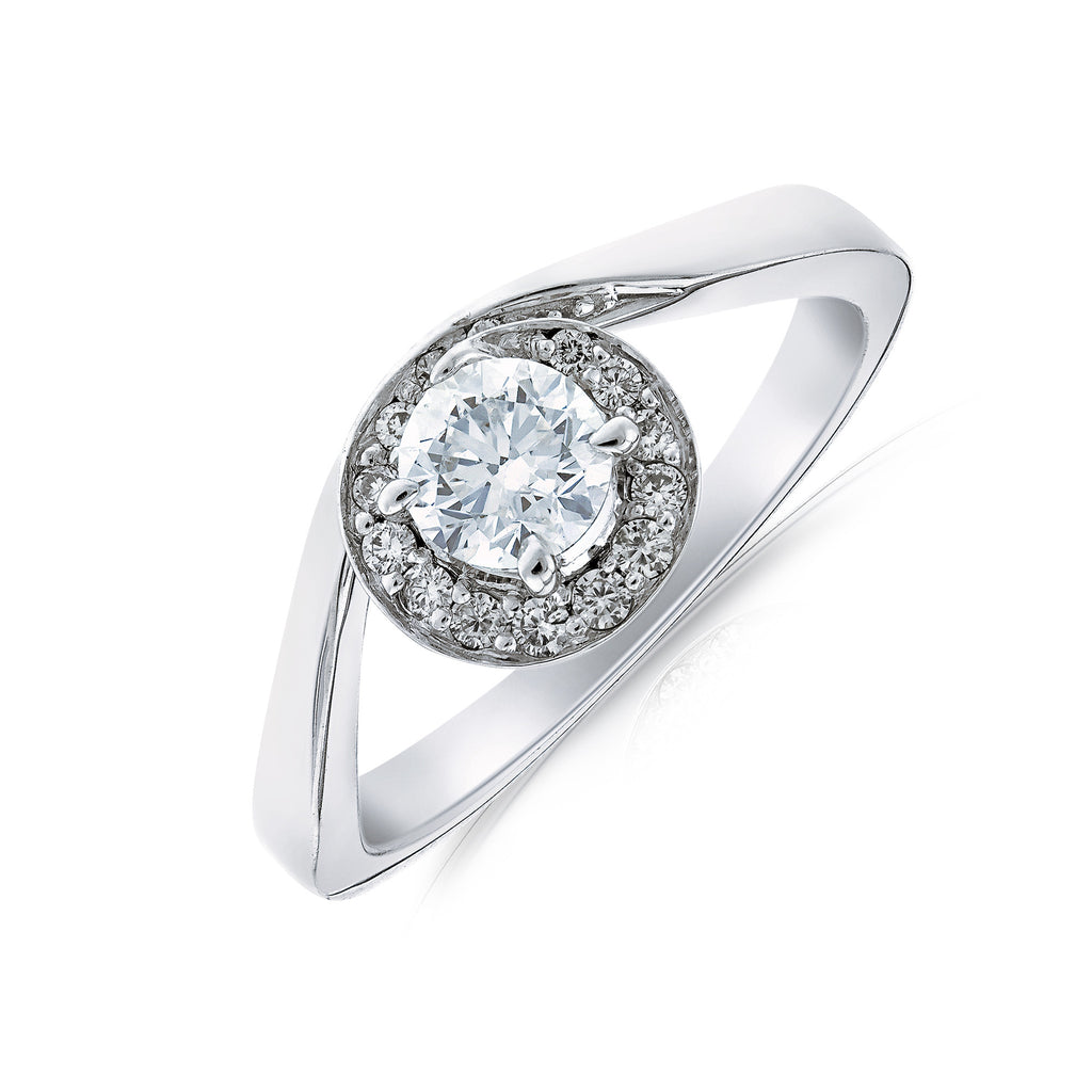 Halo Diamond Ring - www.sparklingjewellery.com