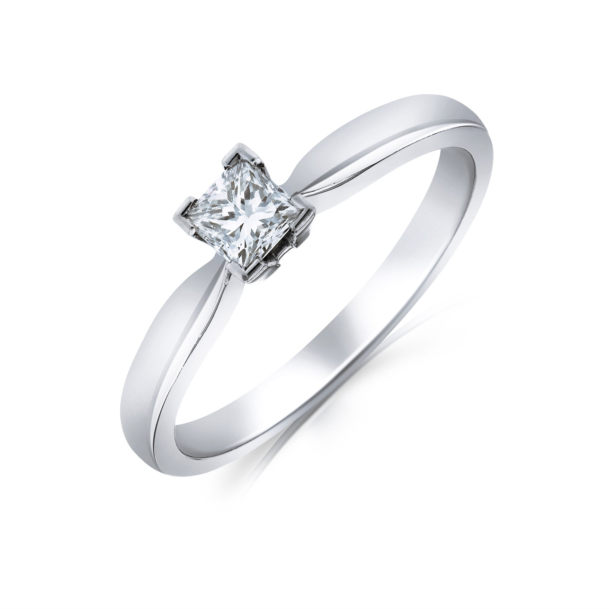 princess and products solitaire henrich ring platinum flat square denzel diamond matte