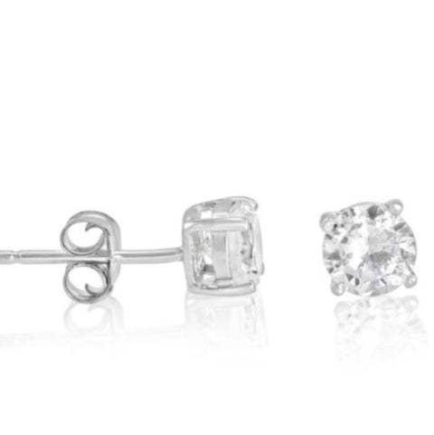Deal of the Century Dulwich School Cancelled Order Silver Stud Earrings - www.sparklingjewellery.com