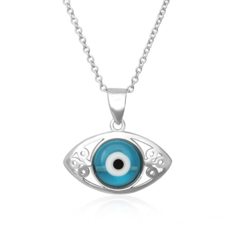All Seeing Eye Sterling Silver Necklace - www.sparklingjewellery.com