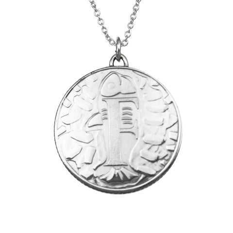 Alphabet Initial Coin Necklace Limited Edition - www.sparklingjewellery.com