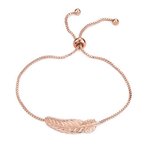 Feather from Heaven Rose Gold Bracelet - www.sparklingjewellery.com