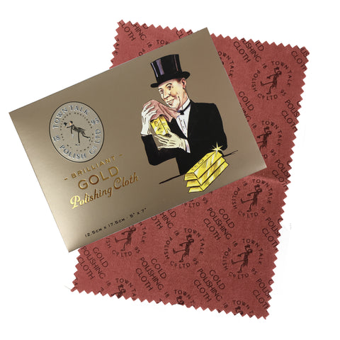 Town Talk Brilliant Gold Polishing Cloth - www.sparklingjewellery.com