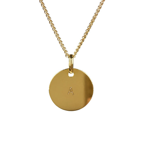 9ct Personalised Gold Disc Necklace - www.sparklingjewellery.com