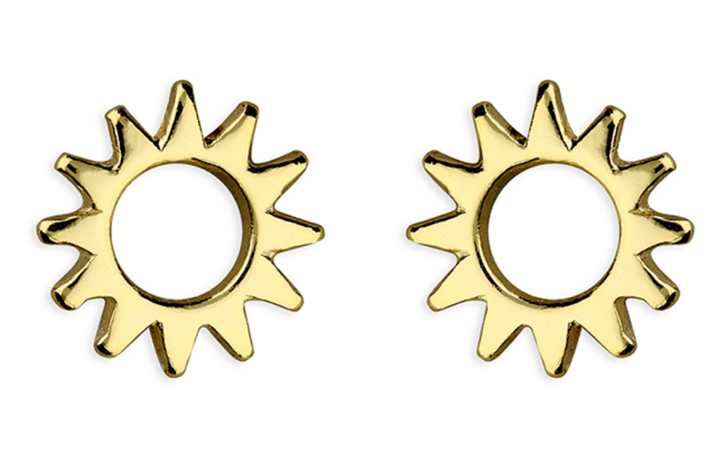 Gold Vermeil Limited Edition Sun Earrings Limited Edition - www.sparklingjewellery.com