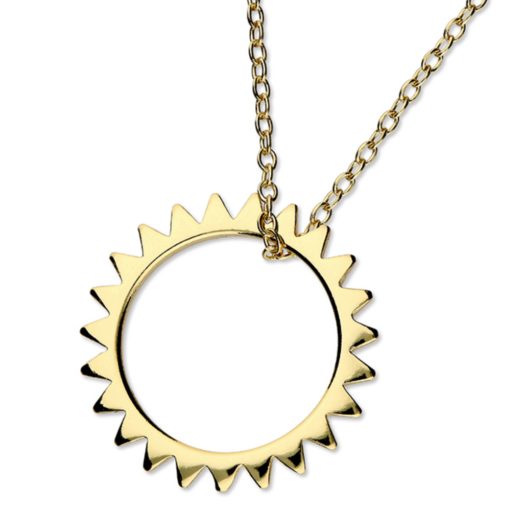 Gold Vermeil Limited Edition Sun Necklace Limited Edition - www.sparklingjewellery.com