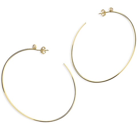 Hoop Pearl Earrings - www.sparklingjewellery.com