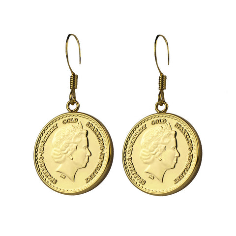 Classic Coin Earrings - www.sparklingjewellery.com