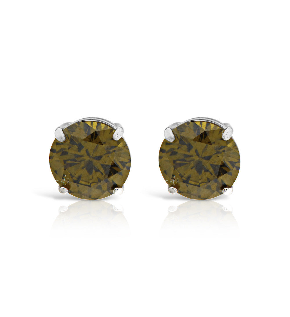 Green Tourmaline Stud Earrings - www.sparklingjewellery.com