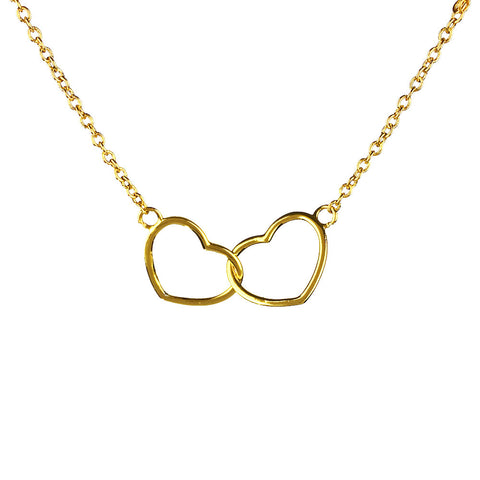 Kismet Two Heart Necklace - www.sparklingjewellery.com