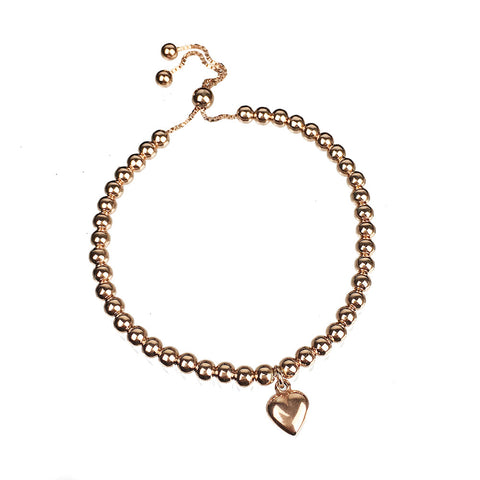 Hoxton Friendship Bead Bracelet with Heart