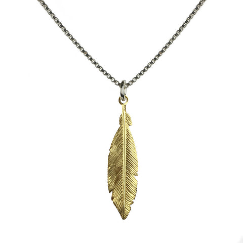 Hoxton Feather Necklace - www.sparklingjewellery.com