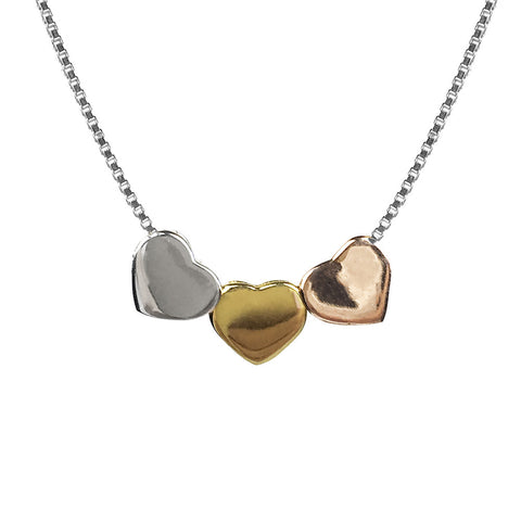 Hoxton Heart Trio Necklace
