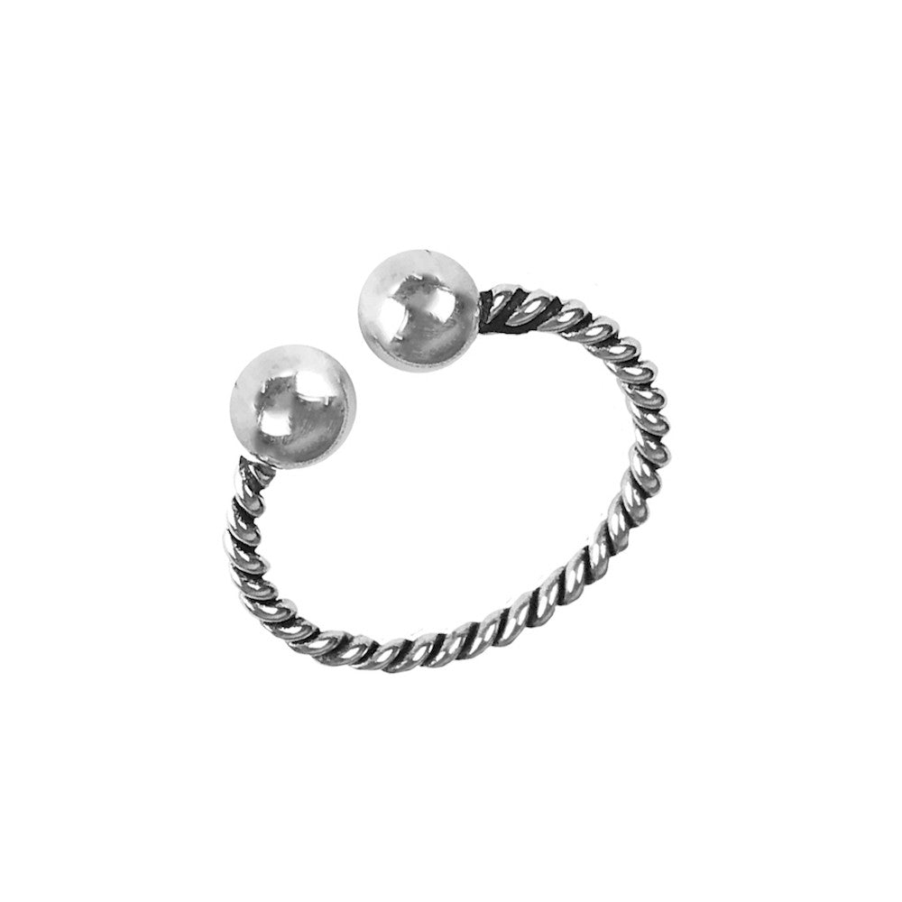 Hoxton Silver Rope Ring