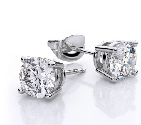 Diamond Stud Earrings - www.sparklingjewellery.com