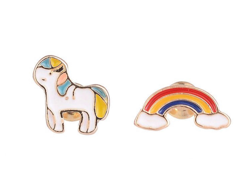 Cute Rainbow Unicorn Earrings 🦄 🌈 - www.sparklingjewellery.com