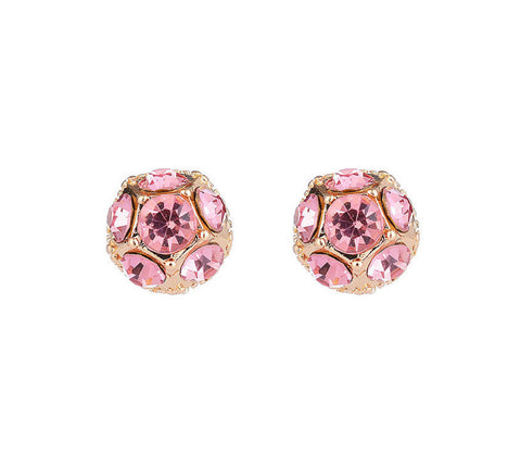 Pink Glitter Ball Earrings - www.sparklingjewellery.com