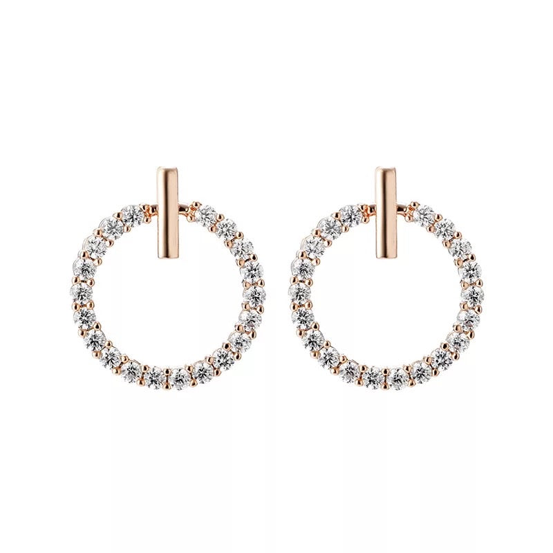 Garland Earrings Rose Gold or Silver - www.sparklingjewellery.com