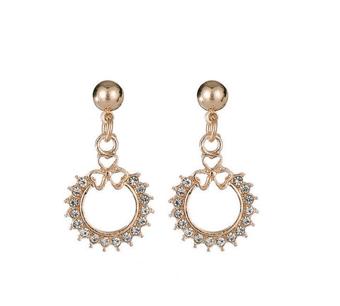 Gold Crystal Drop Earrings - www.sparklingjewellery.com